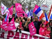 Во Франции прошла акция протеста против легализации однополых браков